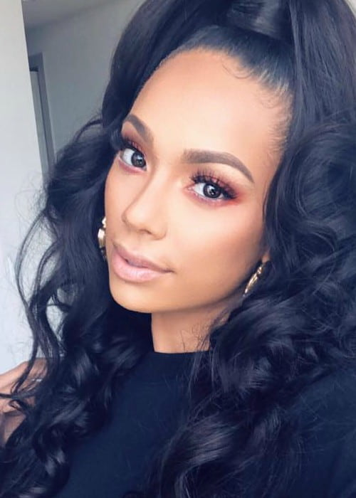 Erica Mena in a selfie as seen in April 2018