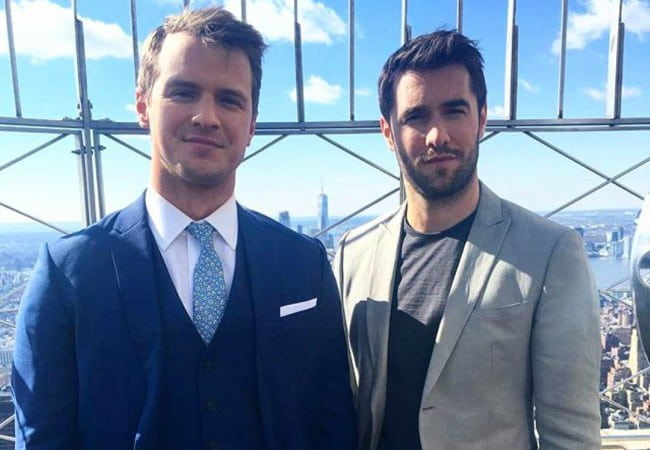 Freddie Stroma (Left) and Josh Bowman as seen in March 2017