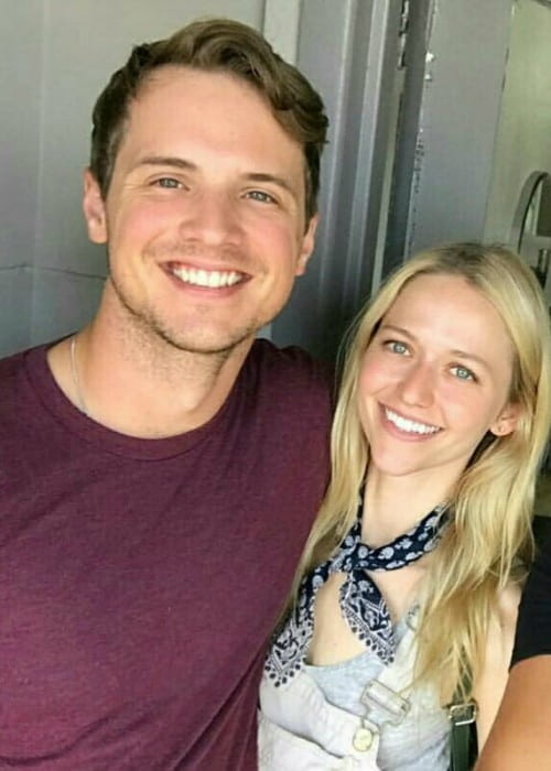 Freddie Stroma and Johanna Braddy as seen in August 2017