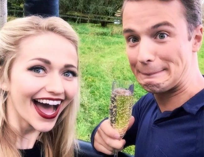 Freddie Stroma and Johanna Braddy in a selfie in May 2016