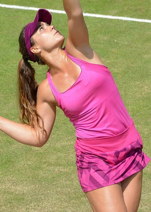 Gabriella Taylor during the Surbiton Trophy tournament in June 2018