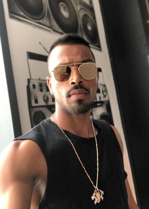 Hardik Pandya in a selfie in July 2018