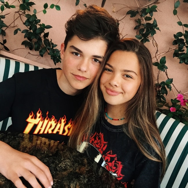 Harvey Petito in an Instagram picture with Mel Sophia posted in February 2018