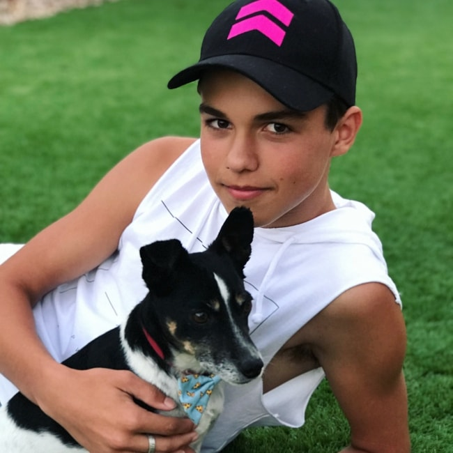 Harvey Petito with his pet dog in February 2018