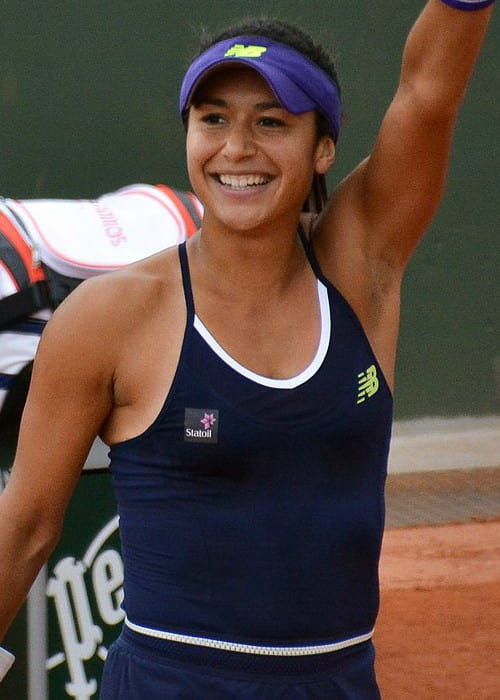 Heather Watson during Roland Garros in May 2016