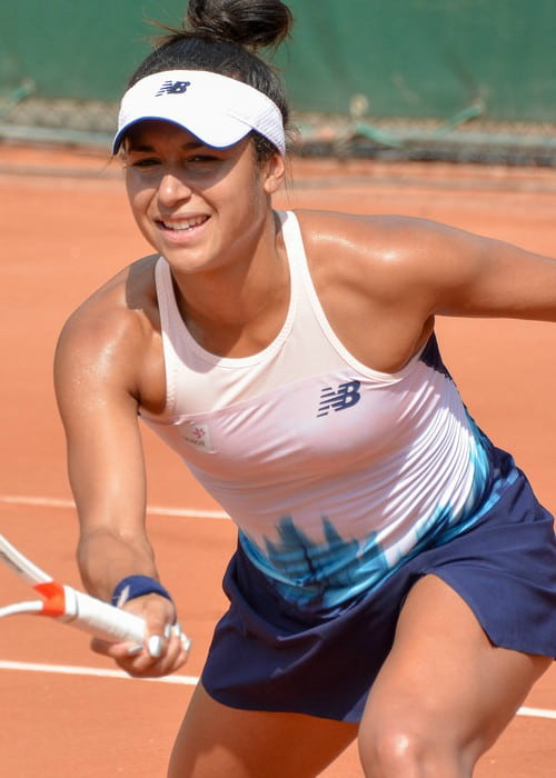Heather Watson during a match in June 2017