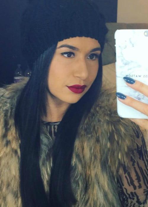Heather Watson in an Instagram selfie as seen in December 2017