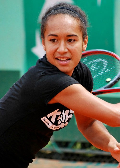 Heather Watson on the practice court in May 2012