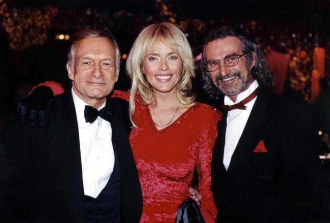Hugh Hefner (Left) with Lillian Muller and Maurice Rinaldi (Right) as seen in 2012