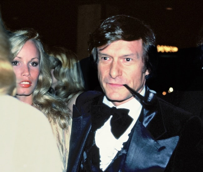 Hugh Hefner as seen in April 1978 at the premiere of the movie F.I.S.T.