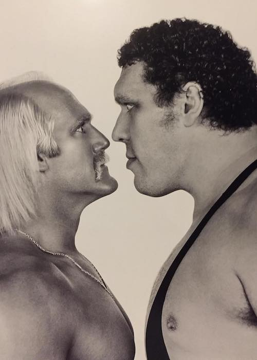 Hulk Hogan (Left) with Andre the Giant