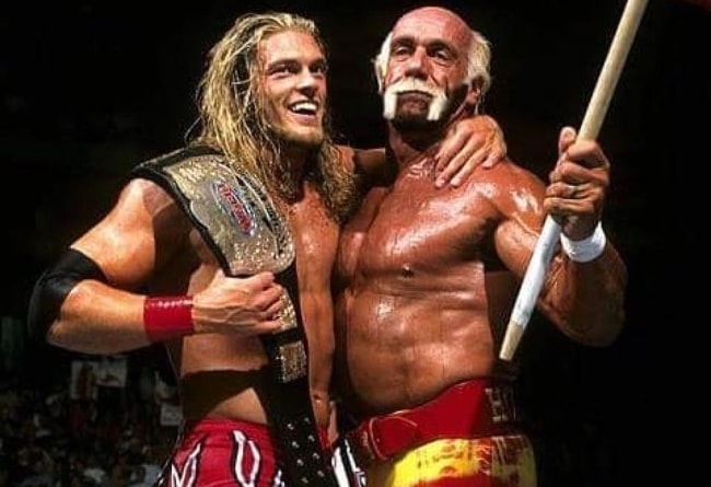 "Hulk Hogan (Right) with Adam ""Edge"" Copeland"