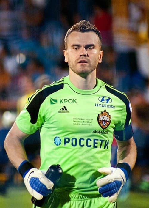 Igor Akinfeev during the 2013 Russian Super Cup