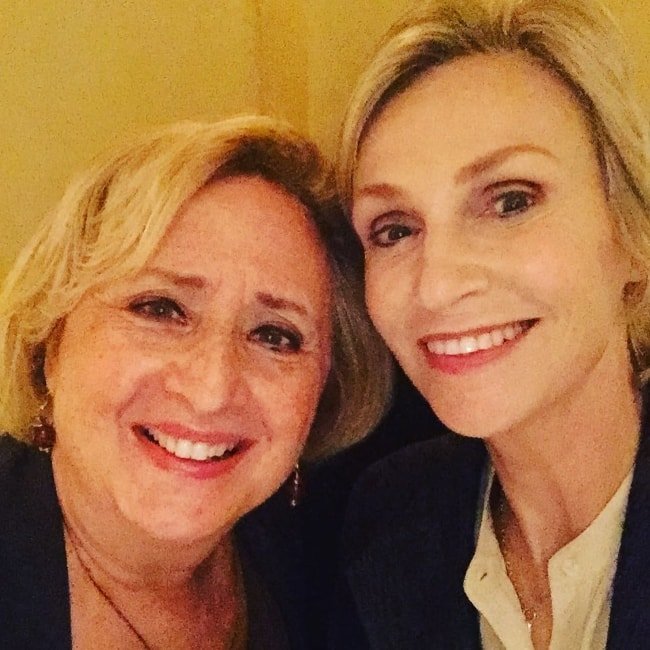 Jane Lynch (Right) with Marla Kirban in October 2017