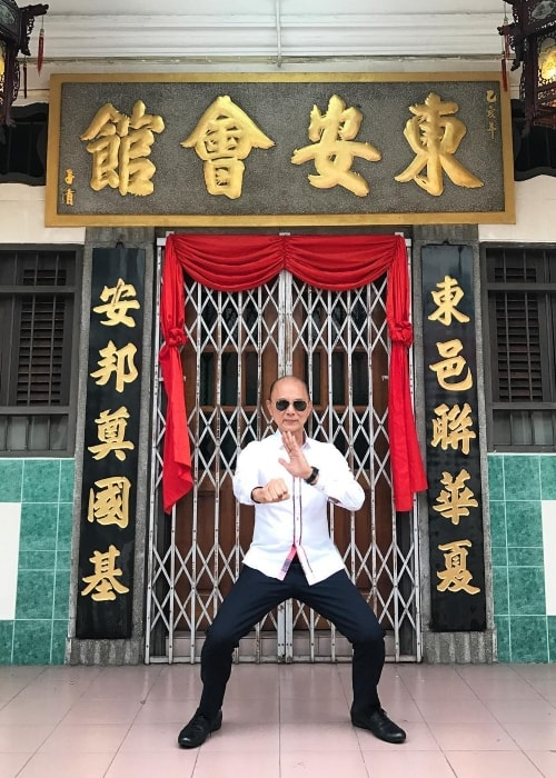 Jimmy Choo during a visit to his childhood Martial Arts Association in Penang in February 2017