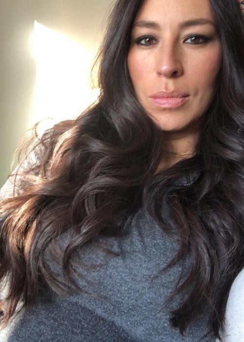 Joanna Gaines showing her baby bump in February 2018
