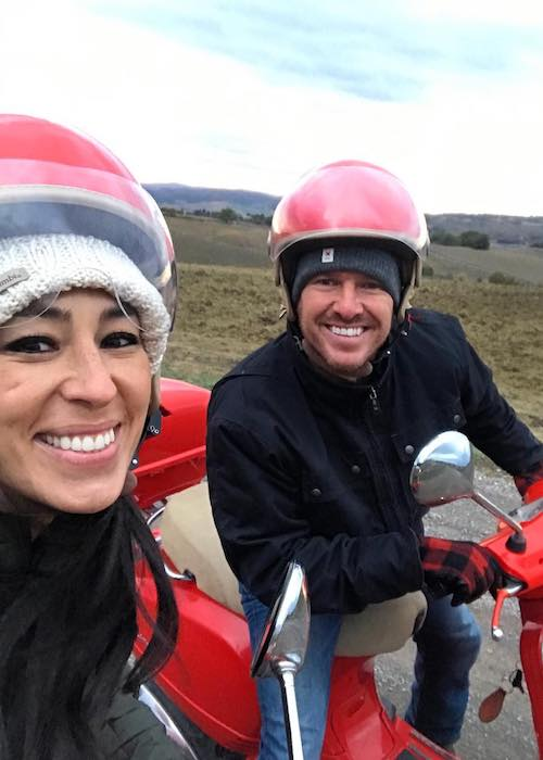 Joanna Gaines with Chip Gaines as seen in November 2017