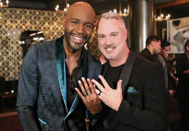 Karamo Brown (Left) and Ian Jordan as seen in May 2018