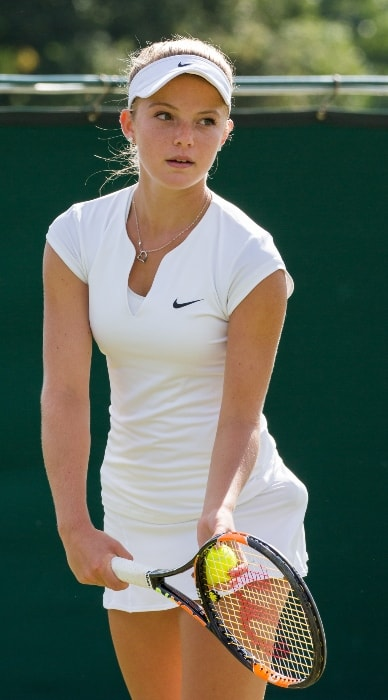Katie Swan as seen during the first round of Wimbledon Qualifying Tournament in June 2015