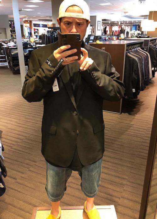 Kevin Smith at DXL Men's Apparel store in June 2018