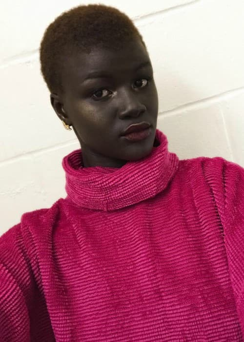 Khoudia Diop in a selfie in January 2018