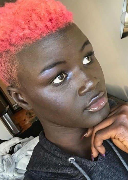 Khoudia Diop in an Instagram selfie as seen in March 2018