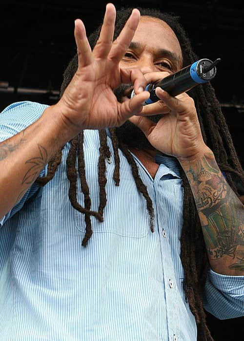 Ky-Mani Marley at Raggamuffin Music Festival in January 2011