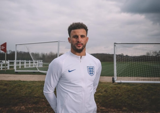 Kyle Walker sporting a Nike outfit in March 2018