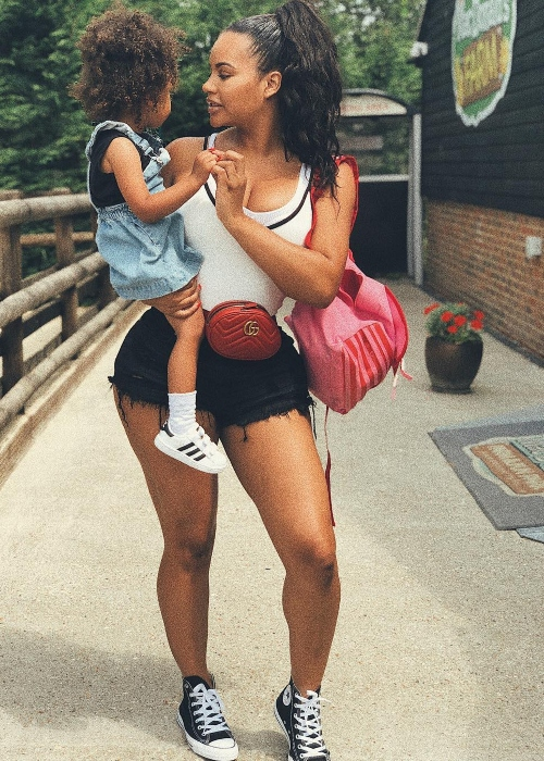 Lateysha Grace with her daughter in July 2018