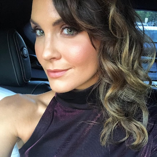 Laura Byrne in a selfie while on her way to VAMFF in March 2018