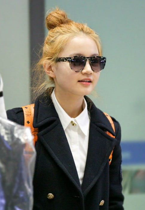 Lee Hi at Incheon Airport in January 2013
