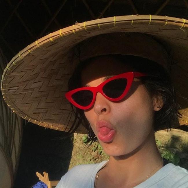 Lina Esco as seen in a selfie in June 2018