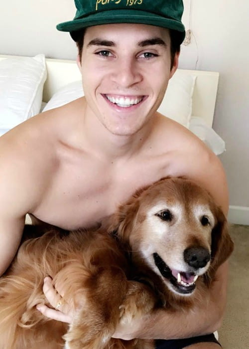 Marcus Johns in an Instagram post with his dog as seen in January 2017