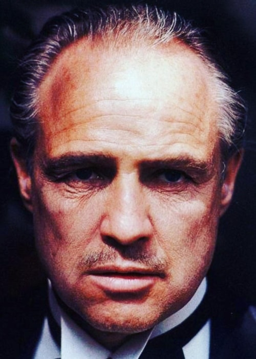 Marlon Brando in his classic look as 'The Godfather'