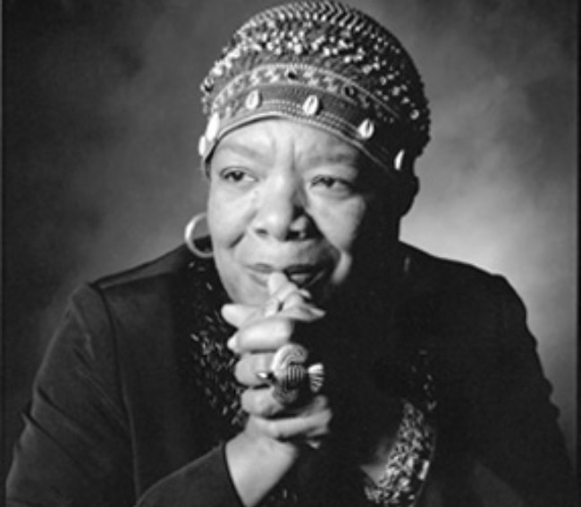 Maya Angelou as seen in February 2009