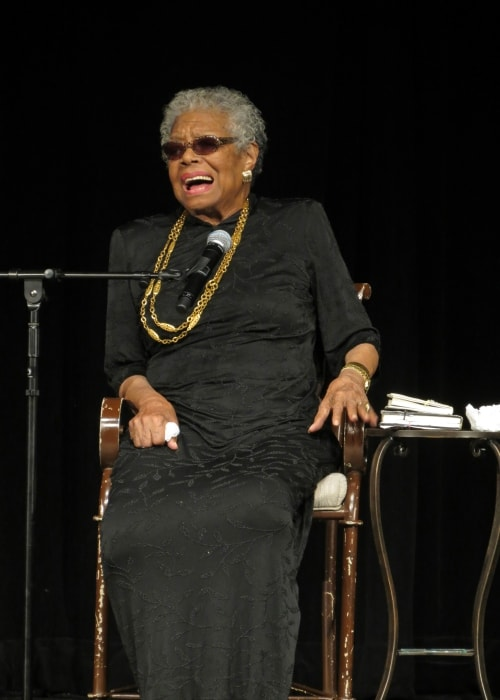 Maya Angelou at York College in February 2013