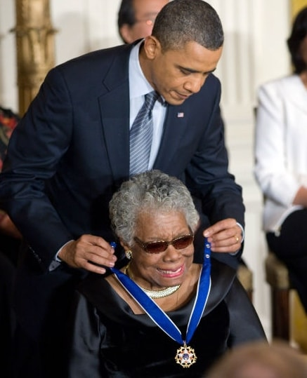 Maya Angelou been awarded the Presidential Medal of Freedom by Barack Obama in 2011