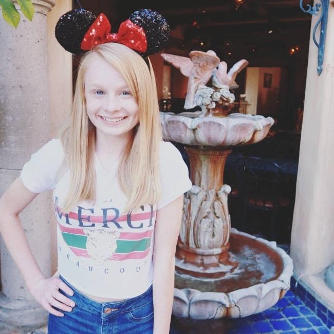 Mia Fizz at Disneyland in February 2018