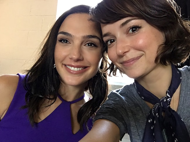 Milana Vayntrub and Gal Gadot in a November 2017 selfie