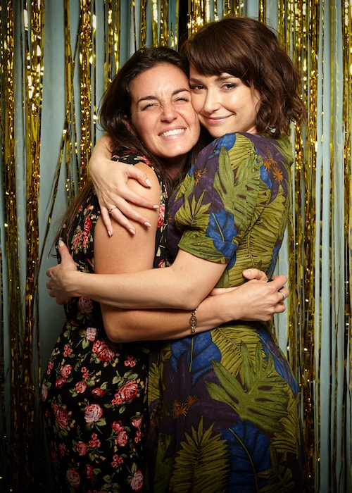 Milana Vayntrub with Katie Hilliard in August 2017