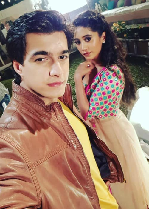 Mohsin Khan and Shivangi Joshi in a selfie in December 2017