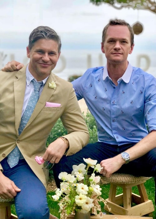 Neil Patrick Harris (Right) with David Michael Burtka celebrating their 14 years relationship in April 2018