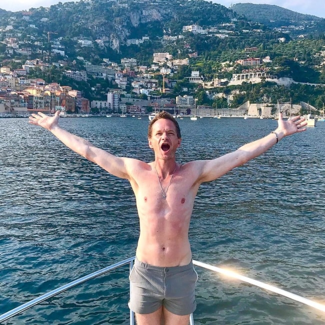 Neil Patrick Harris posing during a vacation in July 2018