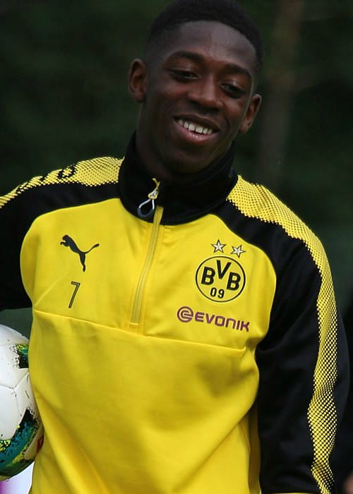 Ousmane Dembélé in the BVB training camp in July 2017
