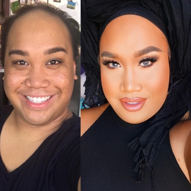 Patrick Starrr in an Instagram picture showing his transition in June 2016