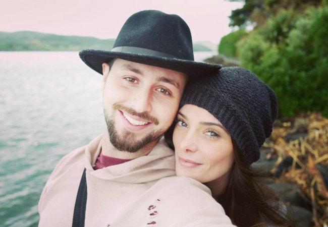 Paul Khoury and Ashley Greene in a selfie in February 2018