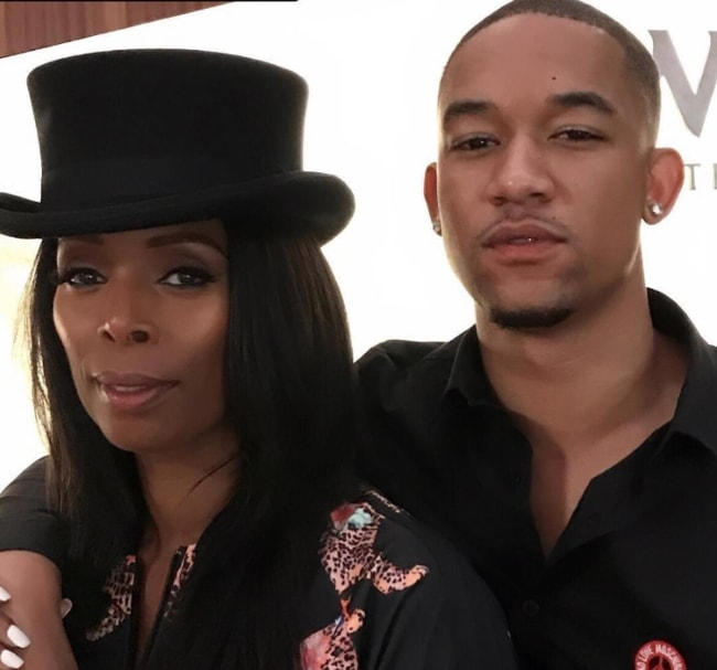 Peyton Alex in an Instagram picture with Tasha Smith in August 2017