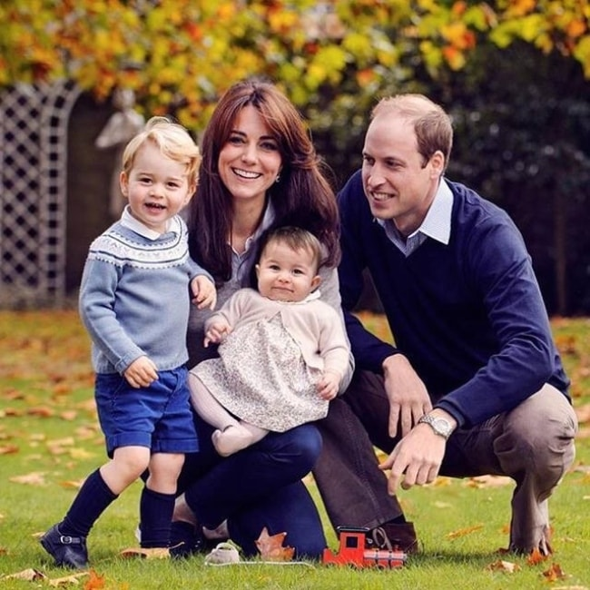 Prince George pictured with his family