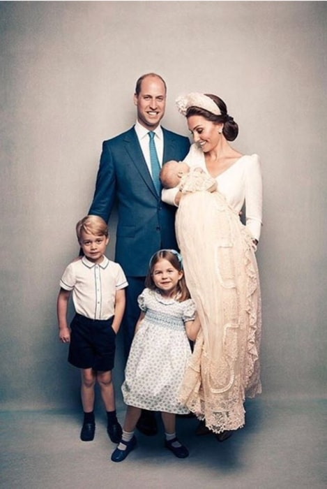 Princess Charlotte posing for a family picture