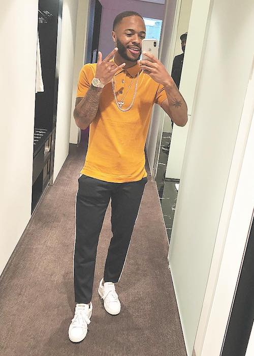 Raheem Sterling in an Instagram selfie in May 2018